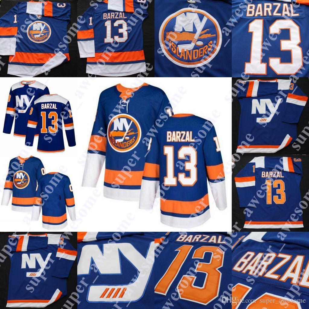 Mathew Barzal Jersey MEN New York Islanders Hockey Jerseys Blue BLANK UK  2019 From Super awesome 6488fce7d