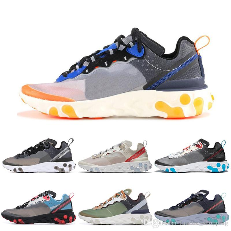 49f2f2be1460 Epic React Element 87 UNDERCOVER Mens Running Shoes Sail Anthracite Thunder  Blue Midnight Navy Green Mist Women Sports Sneakers 36 45 Womens Trail  Running ...