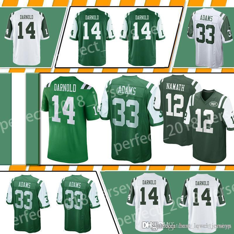 Hot 2019 33 Jamal Adams New York Jet Football Jerseys 14 Sam Darnold 12  supplier