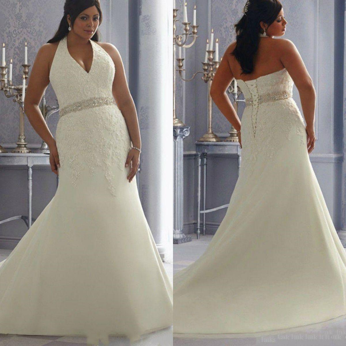 a3d52e357f4 Plus Size Hater Neck Wedding Dress 2019 Mermaid Bridal Gowns Marriage Dress  Vestido De Casamento Robe De Mariage Expensive Wedding Dresses Mermaid  Style ...