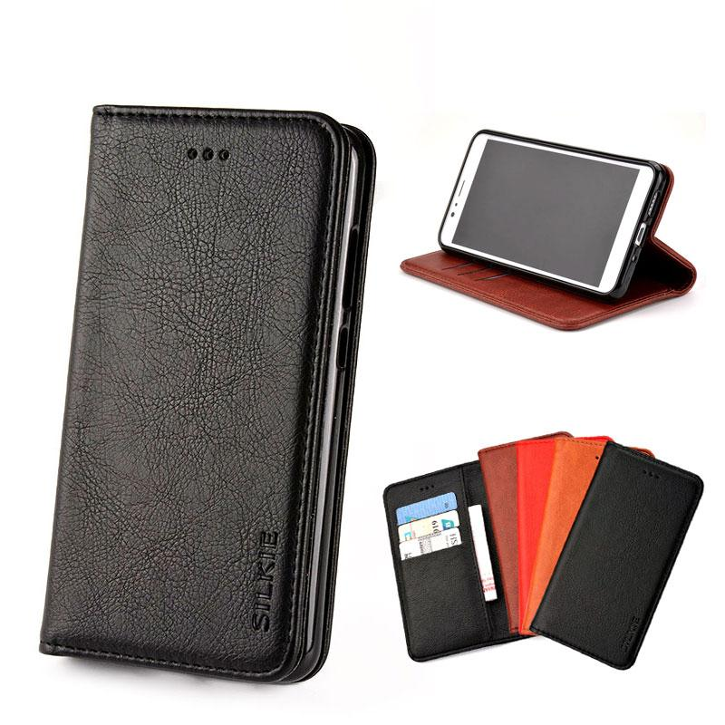 online store b228a c0655 Case for ASUS Zenfone 3 4 5 Max Pro M1 M2 ZB601KL ZB631KL ZB633KL ZB570KL  Luxury Flip cover Vintage Leather with Card Slot Without magnets