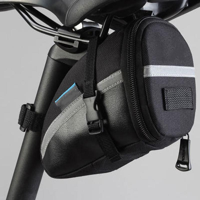 Cycling Saddle Bag Accessories Gear Seat post Mount Reflective strip Bicycle