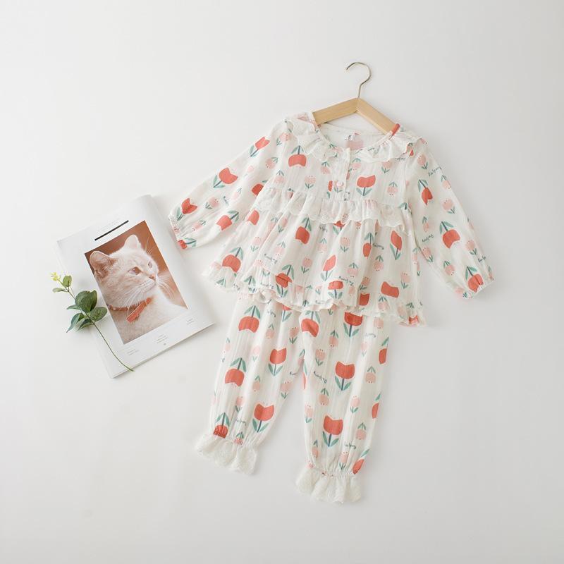 1e16225b02 Acquista Ragazze Pigiama Casual Autunno Set Bambini Floreale Bianco T Shirt  E Pant Set Bambina Tutti Abbinati Vestiti Di Cotone Bambini 1 6 Anni A  $43.98 ...