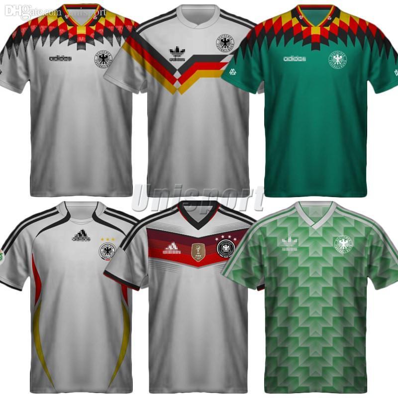 704e5f807 Compre Retro Alemanha 1988 1990 1994 2006 2014 Camisas De Futebol Matthäus  Camisa Futebol Futbol Camisa De Futebol Do Vintage Clássico Camiseta Kit  Maillot ...