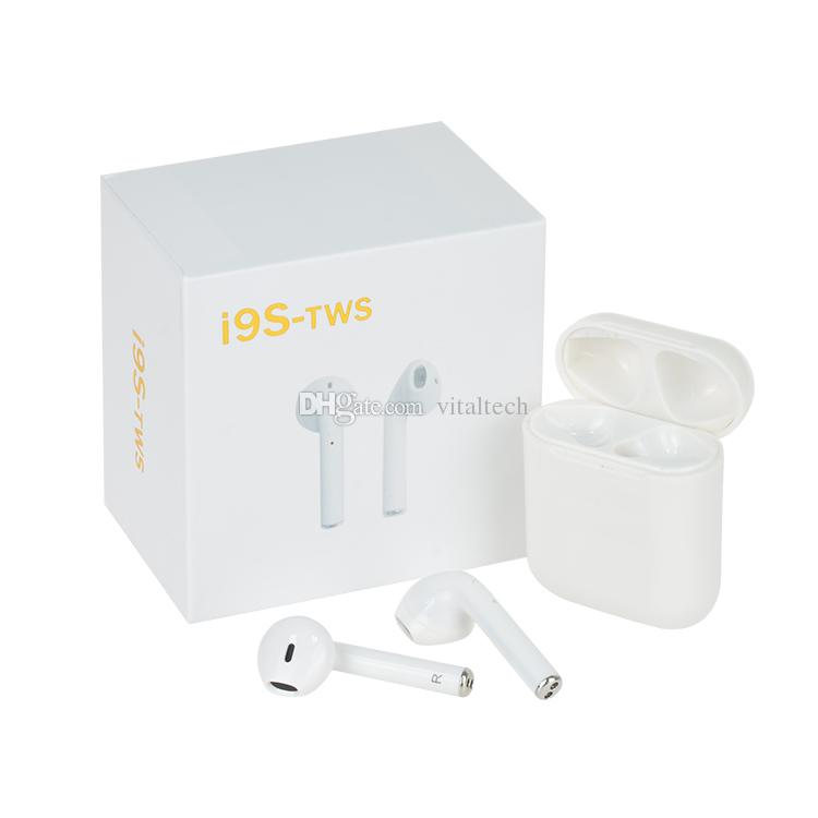 Top selling I9S Tws Earphone Headphone Stereo TWS Earbuds for IOS Android Phone With Charging Box Wireless Bluetooth Headphone with Package
