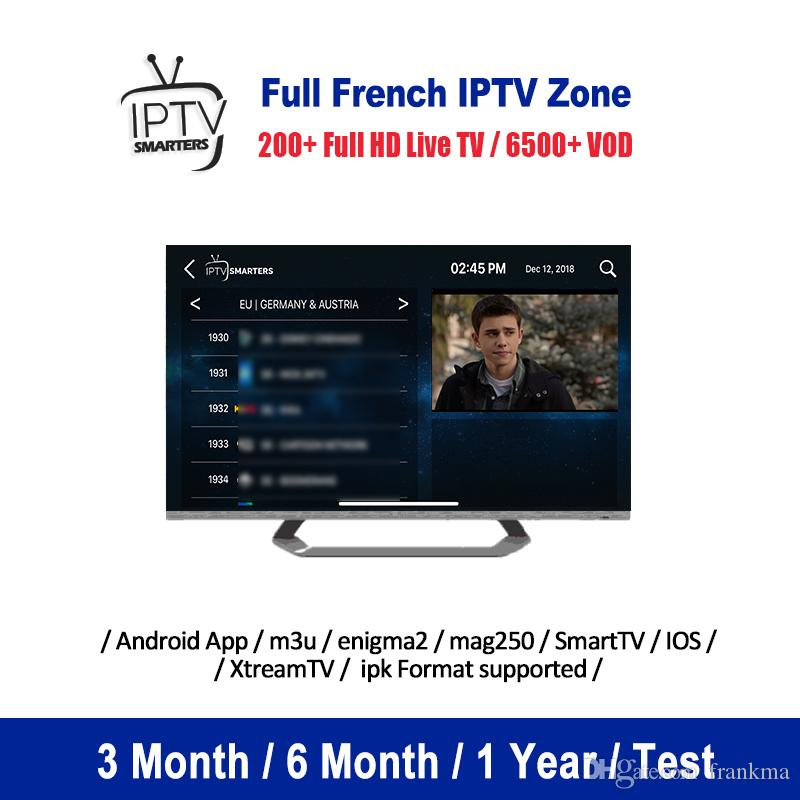 Best France IPTV Subscription For M3U Smart IPTV TV Android Enigma2 MAG Box Germany Spain Scandinavia Abonnement Iptv