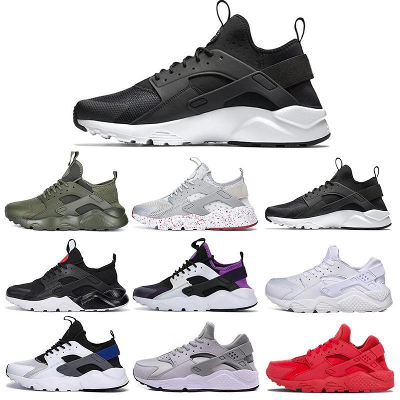 Huarache 1.0 4.0 Triple Blanco Negro para hombre para mujer Zapatos para correr Clásico rojo gris Huaraches Outdoor Runner deporte Entrenadores