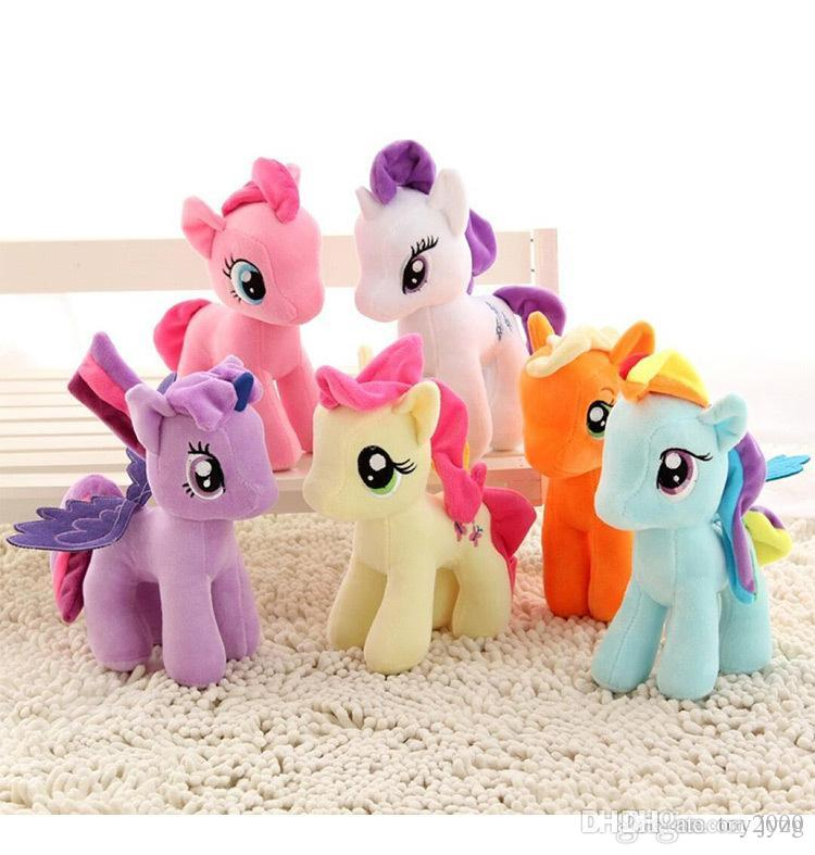 DHL free New Unicorn plush toy 20cm stuffed animal My Toy Collectiond Edition Plush send Ponies Spike toys As Gifts For Children