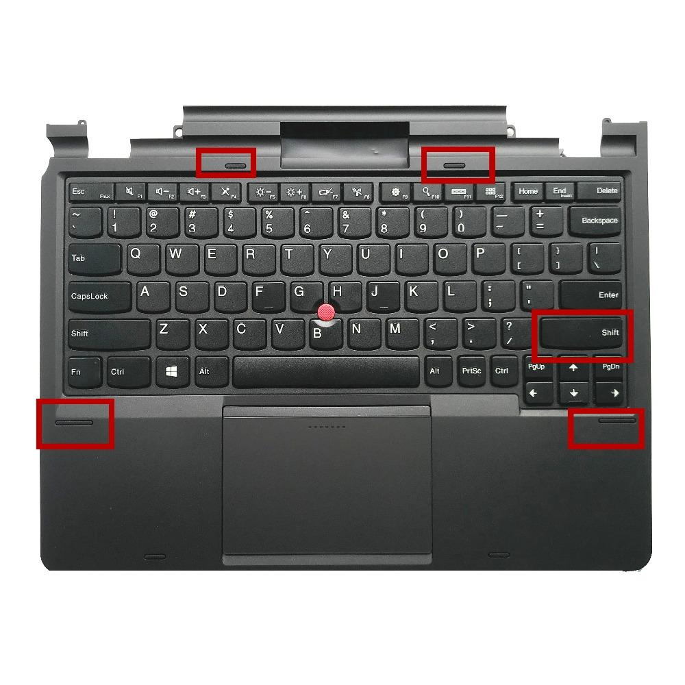 New For Lenovo ThinkPad Helix MT 3697 3701 Laptop keyboard Palmrest Panel  Bezel US 04X0663 04X0627 04X0260 04Y0040