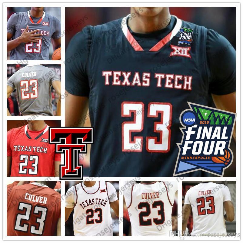 7462b16957f 2019 Custom TTU Texas Tech Black Red White Any Name Number 23 Jarrett  Culver 25 Davide Moretti 13 Matt Mooney 2019 Final Four Jerseys From  Rosejerseys