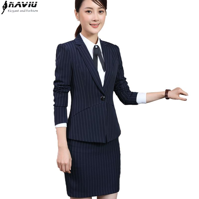 Back To Search Resultswomen's Clothing Cooperative Fall Winter Ladies Navy Blue Blazer Women Business Suits With Pant And Jacket Set Work Wear Office Uniform Styles