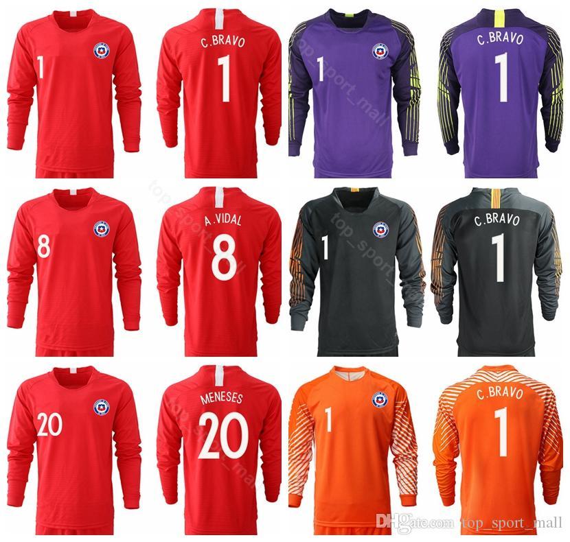 2019 2018 2019 Chile Long Sleeve Jersey Men Soccer 7 SANCHEZ 8 VIDAL 11  VARGAS 17 MEDEL 1 BRAVO 10 VALDIVIA Football Shirt Kits From  Top sport mall 6f39de240