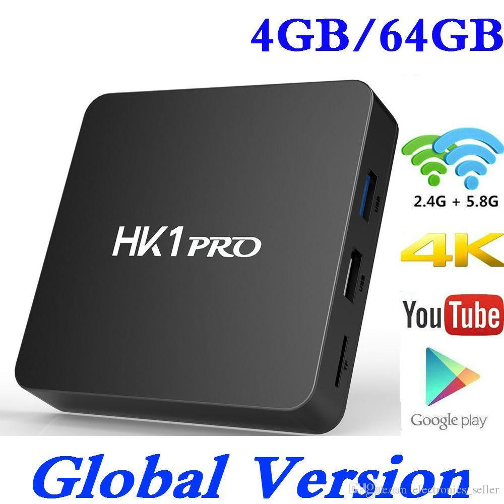 DDR4 4GB 64GB Smart 4K TV BOX Android 8.1 HK1 PRO Amlogic S905X2 ...