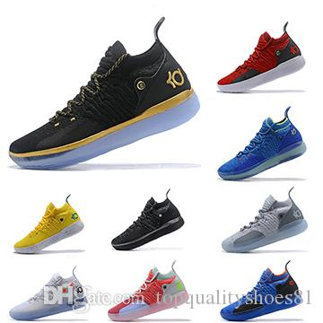 8a7c2686c8538e 2019 KD 11 EP White Orange Foam Pink Paranoid Oreo ICE Men Basketball Shoes  Kevin Durant XI KD11 Sports Trainers Sneakers Size 40 46 Jordans Shoes Sport  ...