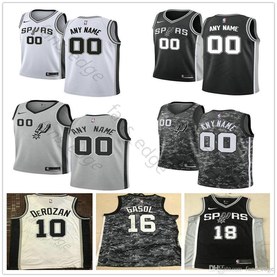 1ae70a0f5ab Printed Custom San Antonio 8 Patty Mills 22 Rudy Gay 42 Davis ...