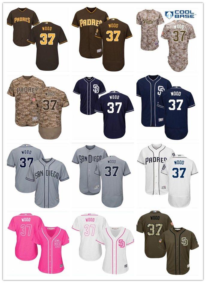 new style 0de79 b8108 2018 San Diego Padres Jerseys #37 Travis Wood Jerseys men#WOMEN#YOUTH#Men s  Baseball Jersey Majestic Stitched Professional sportswear