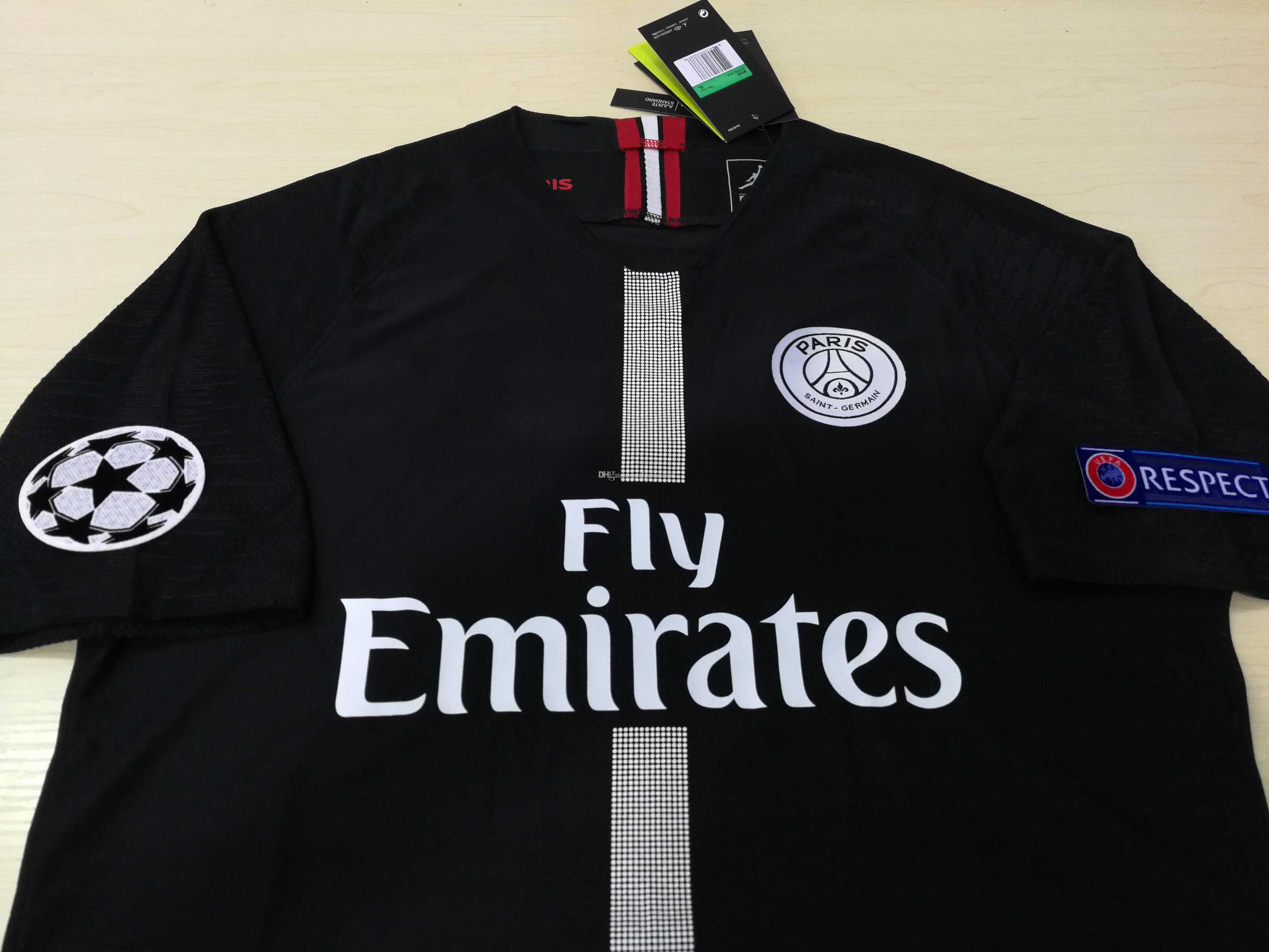 ee221b4c043 2019 2018 2019 Player Version Paris Saint Germain Jerseys 7 MBAPPE BUFFON  VERRATTI CAVANI Custom 18 19 PSG Home Away Football Training Shirt From ...
