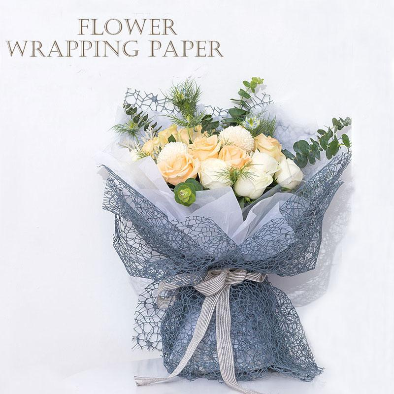 Korean Flower Wrapping Mesh Diy Kraft Paper Bouquet Florist Supplies Wedding Decorationn Packaging Craft Material 50cm 5 Yard