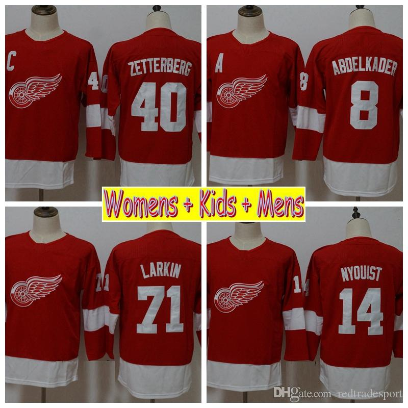 newest 13a8d ecbe4 reduced detroit red wings 71 dylan larkin red sawyer hooded ...