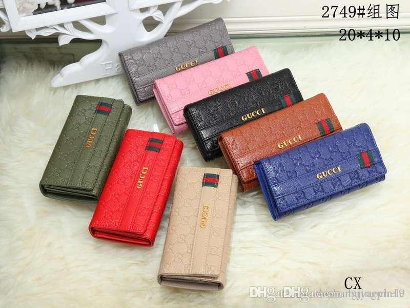 99fe1bf16760 wholesale hot designerslong wallet fashion simple women clutch bag solid  color single zipper men credit card purse sale