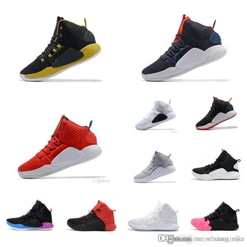 huge selection of 8e5a1 1588c 2019 Men Retro Hyperdunks Basketball Shoes Sale BHM Blue Oreo Bred Aunt  Pearl Kay Yow USA KD HD Hyperdunks 2018 X 10 High Top Sneakers With Box  From ...
