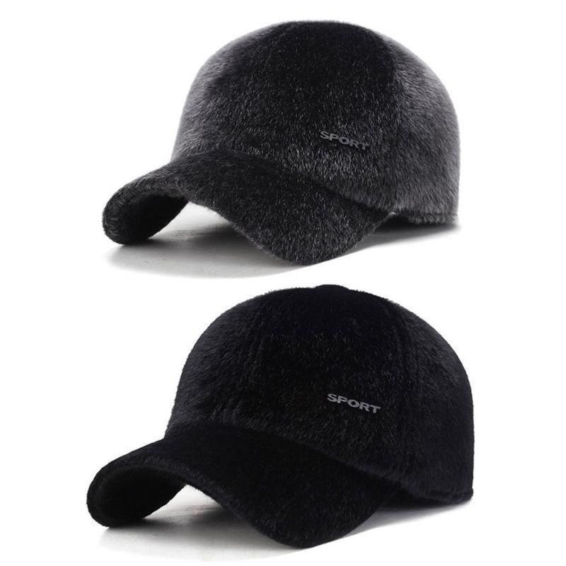 59b15a171a1 2019 Mens Golf Hat Basketball Caps Winter Warm Mane Baseball Running  Earmuffs Caps Hats For Men And Women Cap From Heheda5