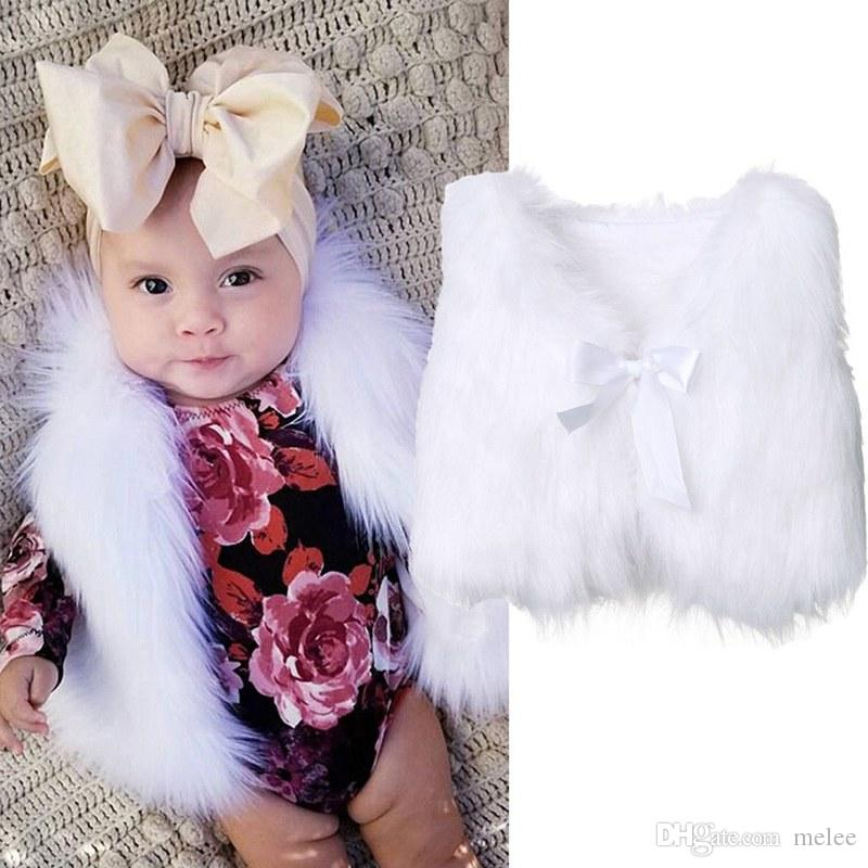 b67433a753a2 Baby Designer Faur Fur Childrens Kids Vest Girls Babys Sweater ...
