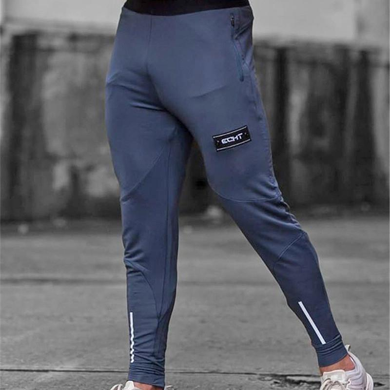 Sports Running Pants Slimming Gym Leggings But Elastic Joggers Track Pants While Fitness Sweatpants Breathable Running Tights Men SH190805