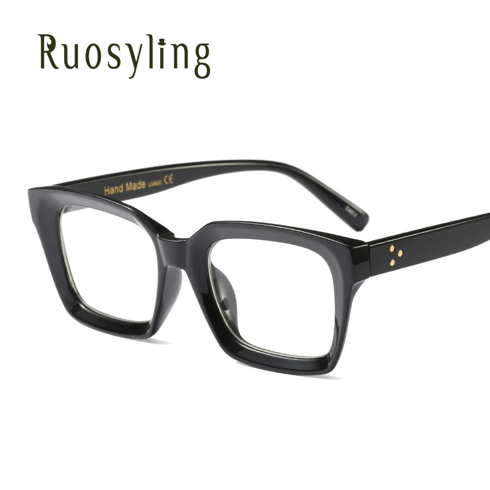 fe57e4c87cf Ruosyling Retro VintageWomen Spectacle Frame Square Glasses Female ...