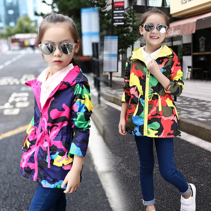 cfc9901aaae79 Hot Children Clothes Baby Girl Coat 2019 New Spring And Autumn Camouflage  Dress Girl Fashion Zipper Coat Birthday Day Gift Jacket Boys Toddler Winter  ...