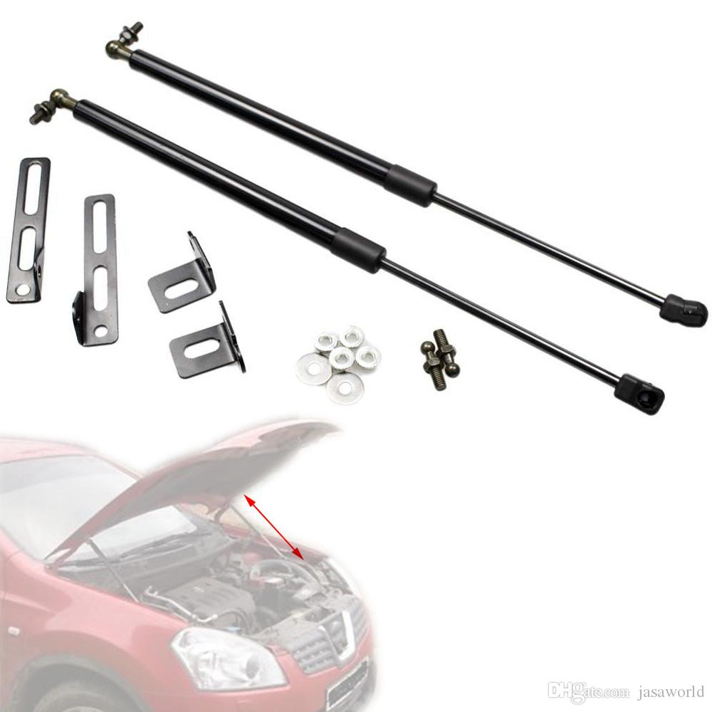 for Nissan Qashqai J10 for Nissan Dualis 2006-2013 modify Hood Bonnet Carbon Fiber Gas Struts Lift Support Shock Damper