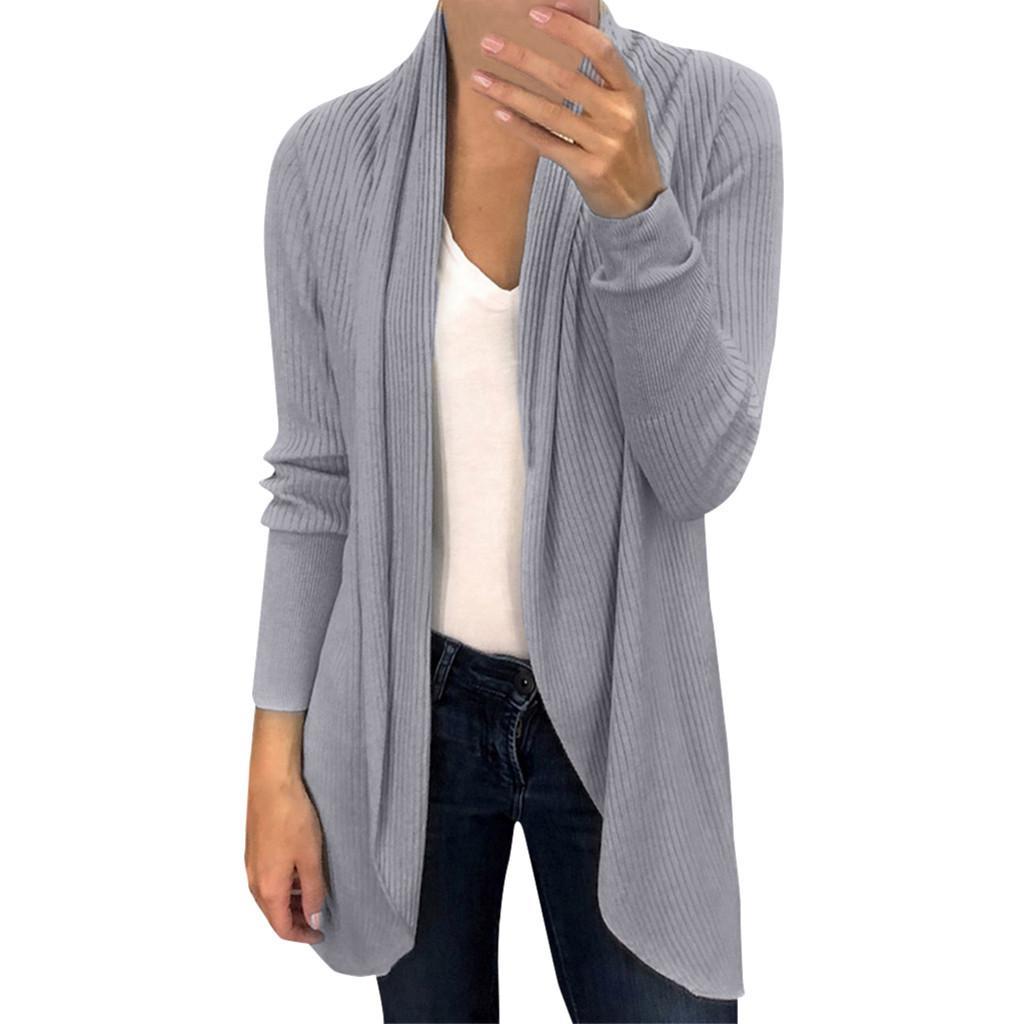 1dac7e0ea0b2 2019 Women Winter Baggy Cardigan Coat Long Chunky Knitted Oversized Sweater  Jumper Women Winter Jacket Wool Blend Cardigan Outerwear From Bellecome