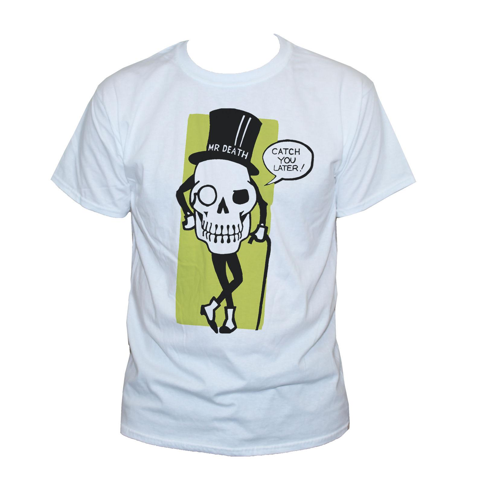 179c4d2c055510 MR DEATH SKULL T SHIRT Goth Funny Quote Party Graphic Printed Retro Tee  Unisex Graphic Tee Shirts T Shirt Sayings From Integrity067