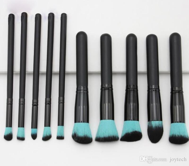 10 قطع أدوات ماكياج فرشاة أدوات التجميل فرشاة مؤسسة عينيه كحل الشفاه مسحوق فرشاة أدوات ماكياج