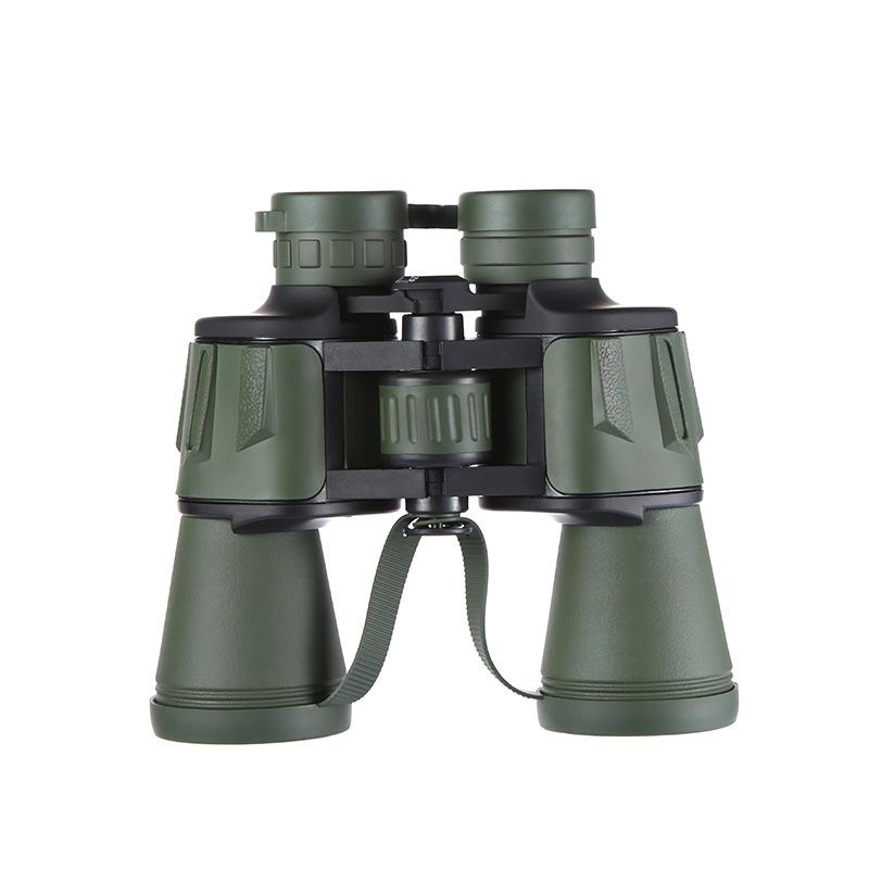 Double Cylinder Telescope Outdoor Camping Binocle Hand Held Binoculars High Magnification Night Vision Green Large Eyepiece Durable 72xf C1
