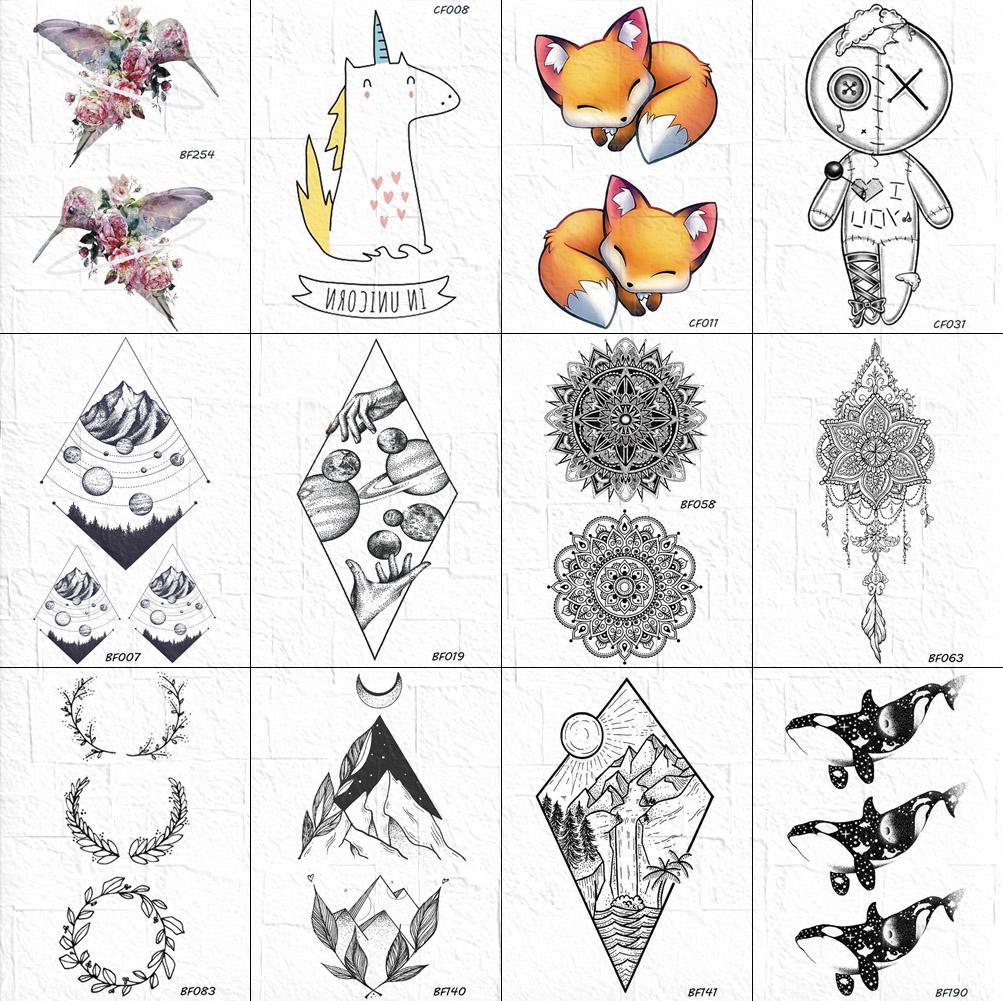 Acheter Henne Noir Autocollant De Tatouage Floral Corps Art Tribal