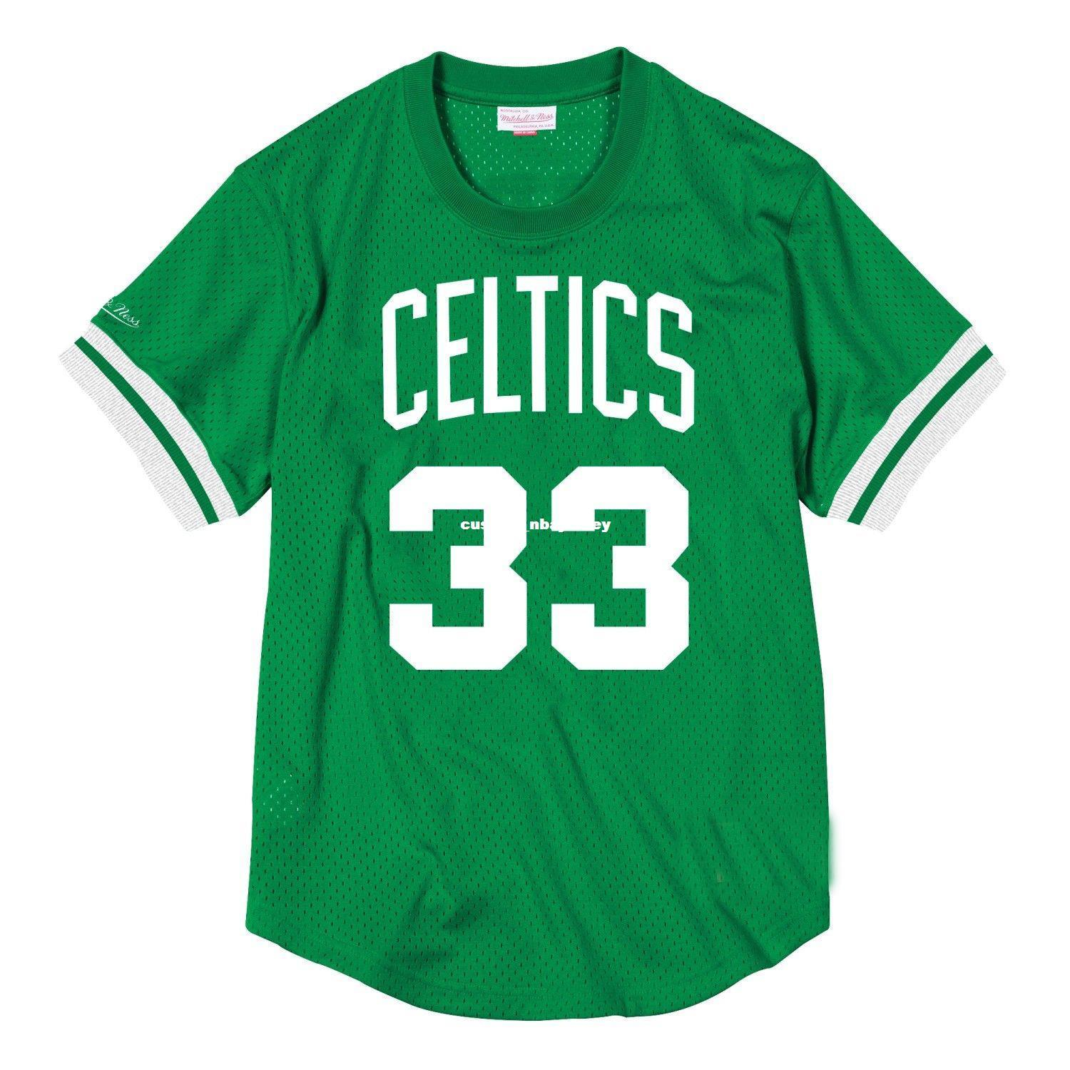 ce6dddbfa2f 2019 Cheap Custom Larry Bird Mitchell   Ness Men S Mesh Jersey Shirt ...
