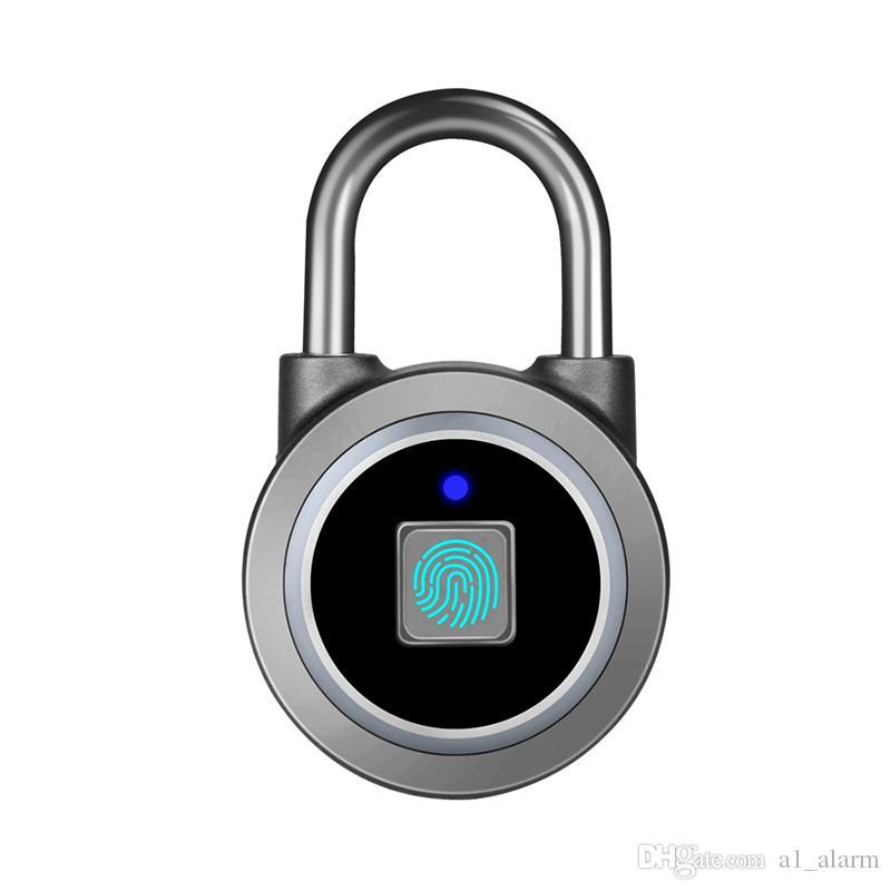 2019 hot Smart P5 Fingerprint Padlock Bluetooth Lock for access control app  record door unlock