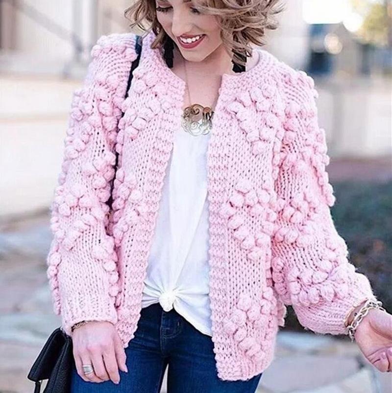купить оптом вязаный свитер пальто женские свободные вязаные