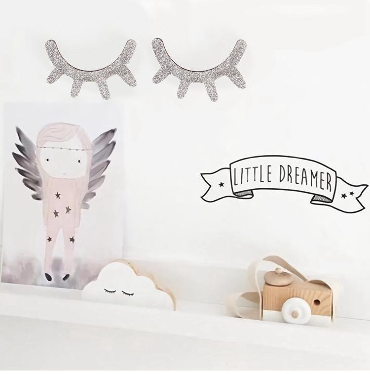 FENGRISE Sleepy Unicorn Eyelash Stickers Birthday Party Room Decor for kids Unicorn Party Decor Birthday Baby Shower Supplies