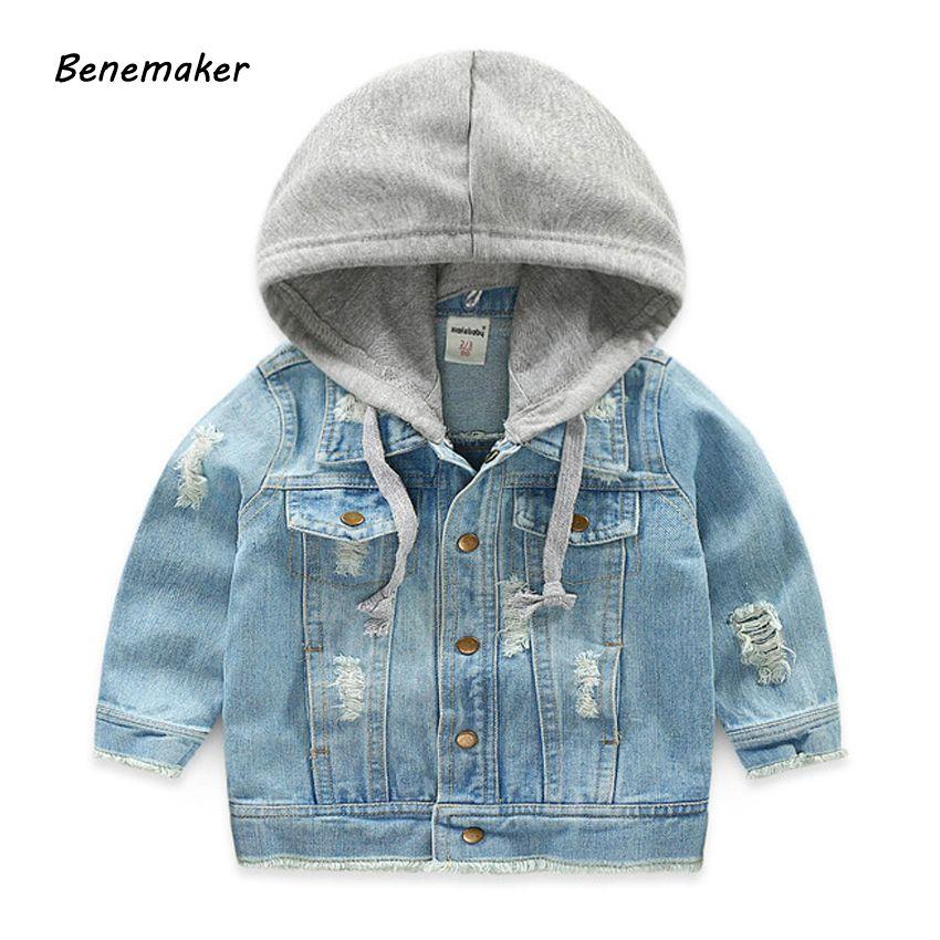 11c990b45 Benemaker Denim Jackets For Boys Autumn Trench Children S Clothing 3 ...