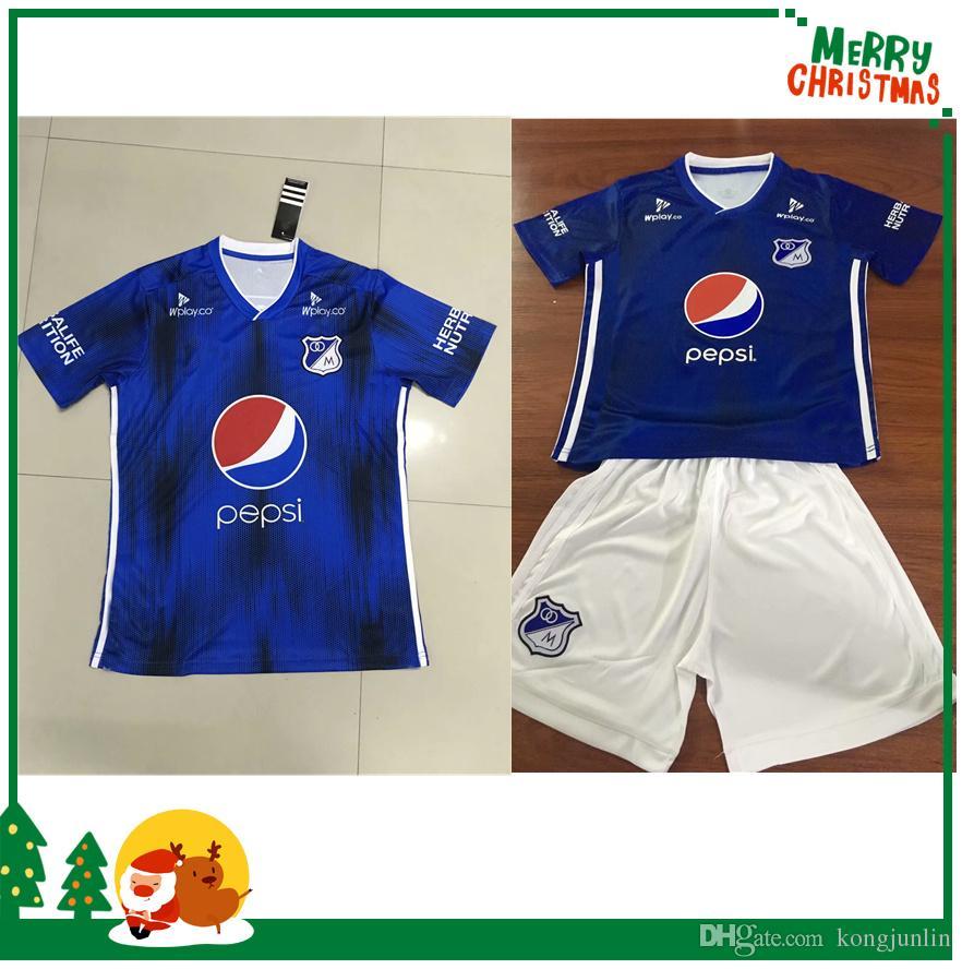 Equipo Para Ninos 2019 2020 Millonarios Futbol Club Colombia Camisetas De Futbol Camiseta De Futbol 19 20 Camisetas De Colombia Millonarios Camisetas