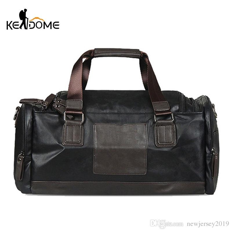 d02d1fa511 2019 2018 Men S Gymnastic Bags PU Leather Shoulder Sport Gym Bag Fitness  Handbag Crossbody Travelling Large Capacity Tote XA423WD  138329 From  Newjersey2019 ...
