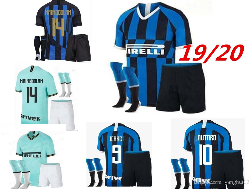 sports shoes f9844 a7ef2 2019/20 inter Soccer jersey adult kit with socks ICARDI PERISIC 19/20 milan  20TH ANNIVERSARY new inter Maillot de foot football shirts kit