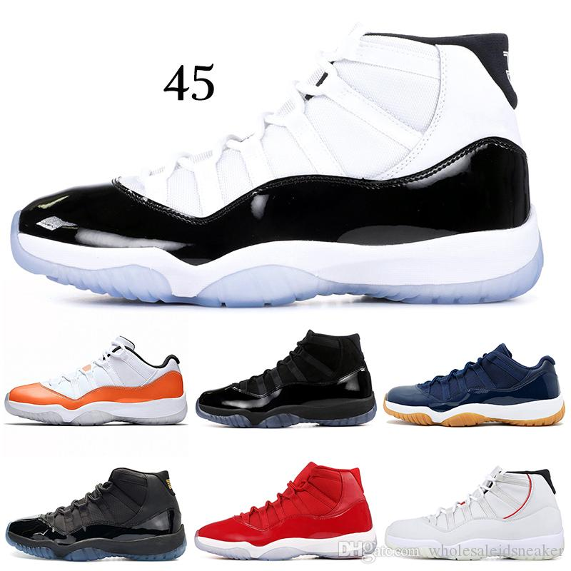 7641ab436f0 Concord 11s Basketball Shoes Mens Women Cap And Gown Snakeskin Orange Trance  Space Jam Win Link 11 Trainer Sport Sneakers 5.5 13 Basketball Shoe Men  Shoes ...
