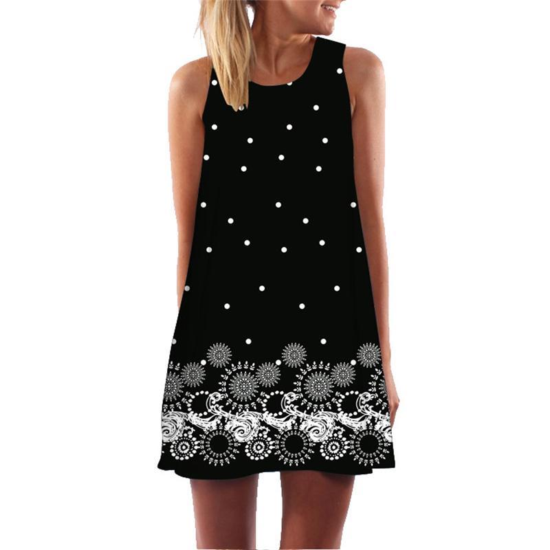acheter zomer jurk bloemenprint boho jurken voor vrouwen plage