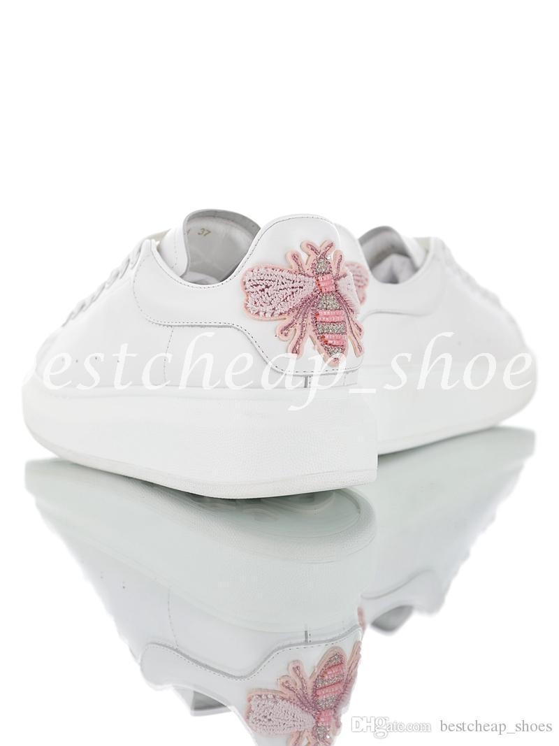 Alexander Mcqueens ACE Mariposa Para Mujer Zapatos Queen Hermosa Plataforma  Casual Moda De Lujo Zapatillas De Deporte De Diseño De Cuero Deportes  Scarpe Por ... b6816966d1020