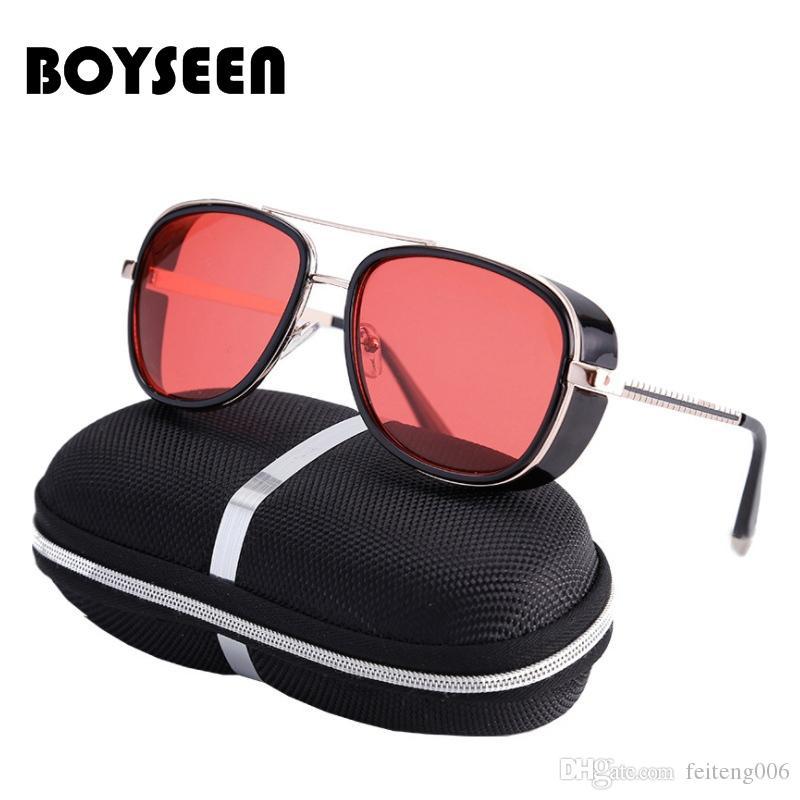 76b7058340 2019 Tony Stark Iron Man Sunglasses Men Luxury Brand Eyewear Mirror Punk  Sun Glasses Vintage Male Sunglasses Steampunk Oculos Ironman  15983 From  Feiteng006 ...