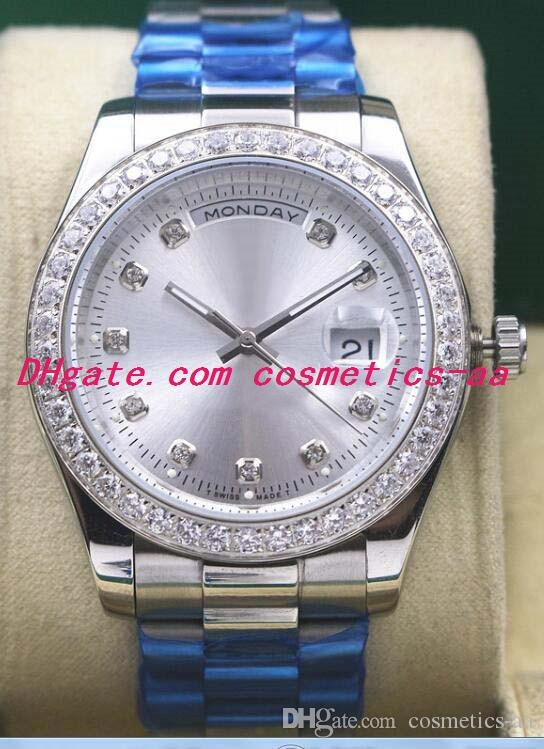 11 Style Luxury Watches Mens Silver Steel Steel Bracciale Diamond Bezel Automatic Fashion Men 116655 116622 Orologi meccanici automatici da uomo