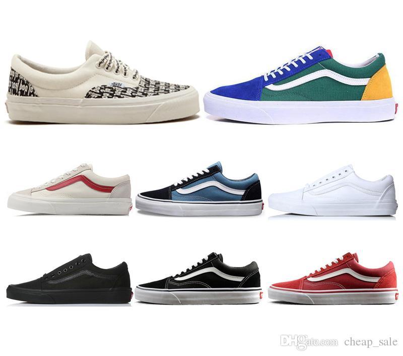 543231a2c Compre Vans Shoes Diseñador Fear Of God Zapatos Casuales Para Hombres  Mujeres Venta Caliente Para Hombre Lona Blanco Azul Rojo Negro  Skateboarding Botas ...